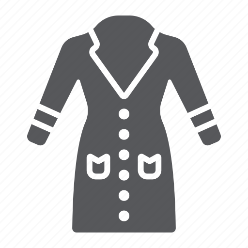 Clothes, clothing, coat, female, jacket, warm, wear icon - Download on Iconfinder