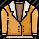 clothes, clothing, garment, jacket, overcoat, raincoat, topcoat icon