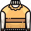 clothes.svg, clothing, garment, jersey, pullover, sweater, sweaters icon