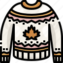 clothes, clothing, garment, jersey, pullover, sweater, sweaters icon