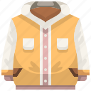 clothes, clothing, coat, garment, jacket, overcoat, winter icon
