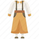 bib, bib trousers, clothes, clothing, pants, trouser, trousers icon
