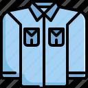clothes, denim, fashion, jeans, long, shirt, sleeve icon