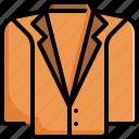 clothes, clothing, fashion, jacket, suit icon