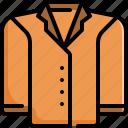 clothes, clothing, coat, fashion, jacket, suit icon