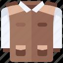 coat, archaeologist, uniform, clothing, jacket