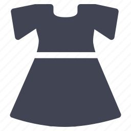 clothes, clothing, dress, fashion, shorter, sleeved icon