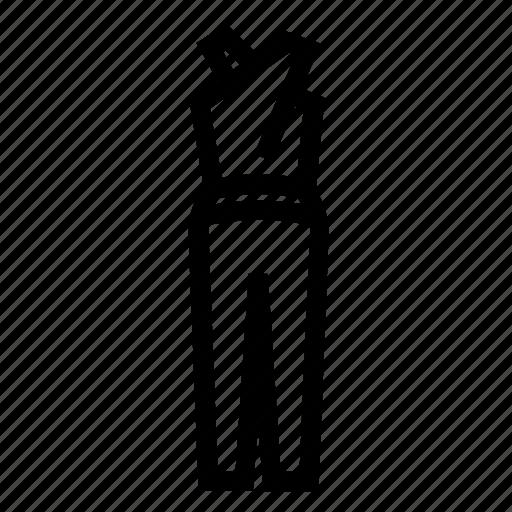 clothes, elegant, jump suit, jumpsuit, suit icon