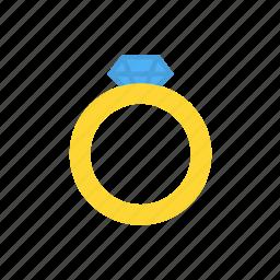 diamond, jewellery, ring icon icon