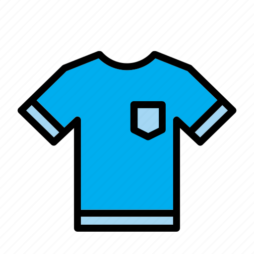 accessory, blue, clothes, clothing, garment, t-shirt icon