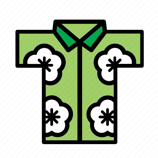 accessory, clothes, clothing, garment, hawaii, hawaiian, shirt icon