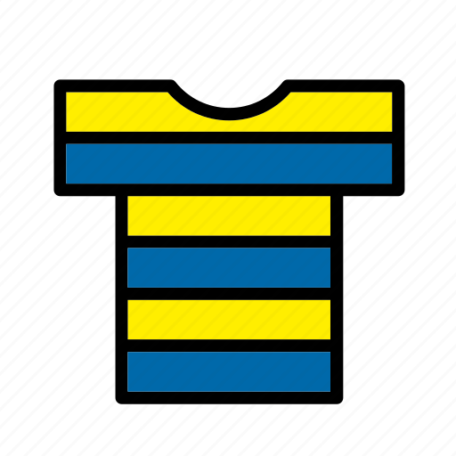accessory, clothes, clothing, garment, striped, t-shirt icon