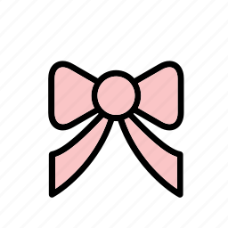 accessory, bow, clothes, clothing, garment, pink icon