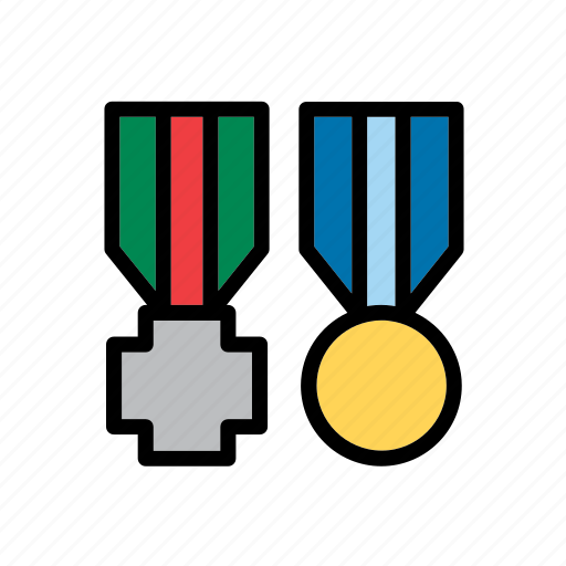 accessory, army, clothing, honor, medal, military, war icon