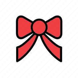 accessory, bow, clothes, clothing, fashion, garment, red icon