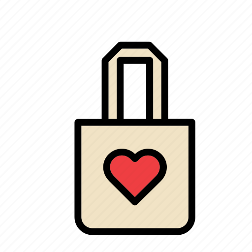 Accessory, bag, clothes, clothing, heart, love icon - Download on Iconfinder