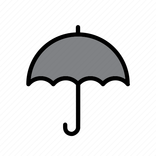 accessory, clothes, clothing, garment, rain, umbrella, weather icon