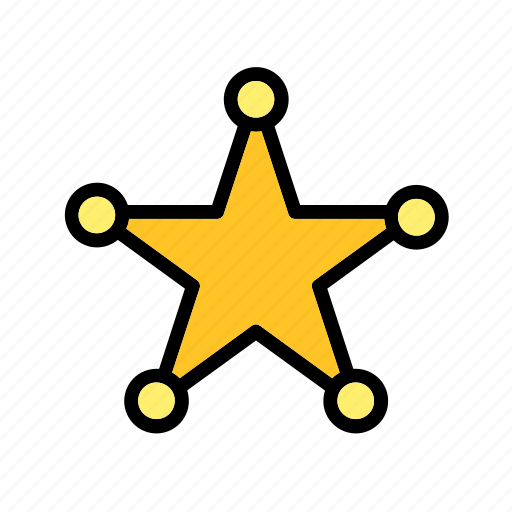 Accessory, badge, clothes, clothing, police, sheriff, star icon - Download on Iconfinder