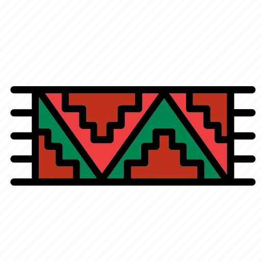 accessory, carpet, clothes, clothing, garment, mexican, rug icon