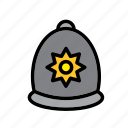 police, hat, cap, accessory, london, clothing, clothes icon