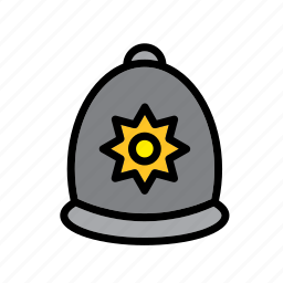 accessory, cap, clothes, clothing, hat, london, police icon