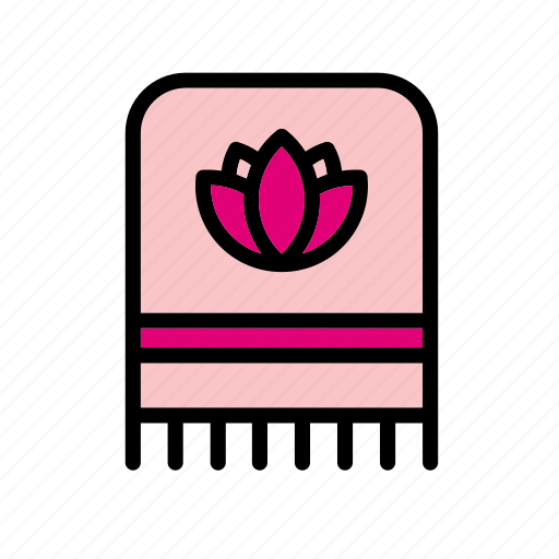 accessory, article, clothes, clothing, flower, garment, towel icon