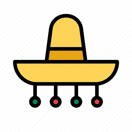 accessory, clothes, clothing, garment, hat, mexican, mexico icon