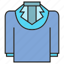 cloth, fashion, jacket, suit, sweater, undershirt, vest icon