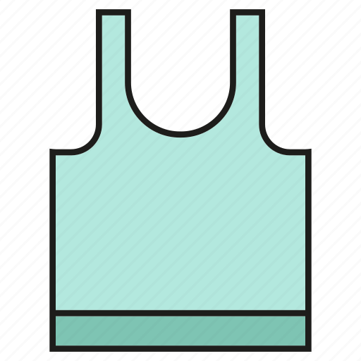 apparel, cloth, fashion, garment, singlet, style, vest icon