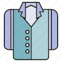 apparel, cloth, costume, garment, jacket, suit, tuxedo icon