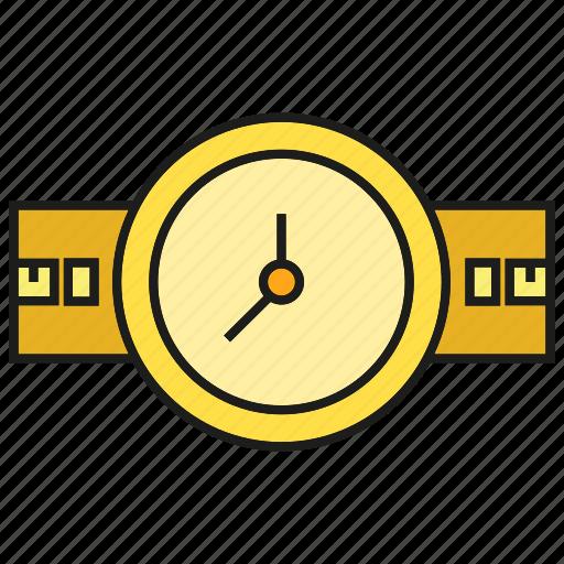 clock, fashion, style, timepiece, watch icon