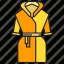 bathrobe, cloth, dressing gown, fashion, garment, style, tunic icon