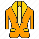 apparel, cloth, fashion, garment, style, suit, tuxedo icon