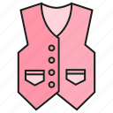 apparel, cloth, fashion, garment, style, vest, waistcoat icon