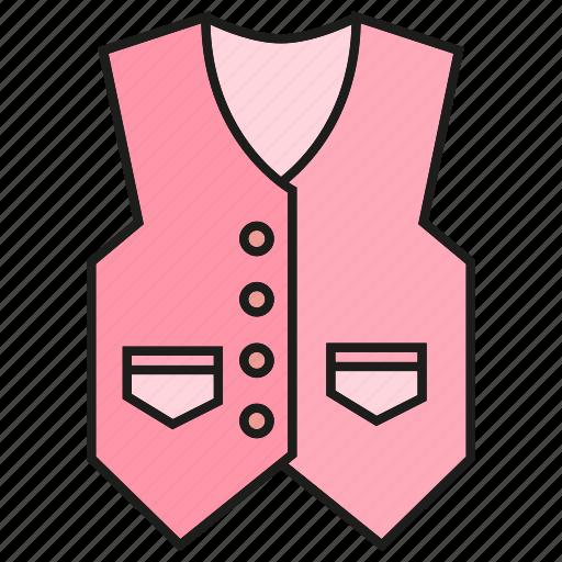 apparel, cloth, fashion, garment, style, vest, waistcoat icon