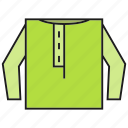 apparel, cloth, fashion, garment, style, sweater, waistcoat icon
