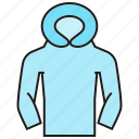 cloth, fashion, garment, hood, style, sweater, waistcoat icon