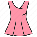 style, fashion, garment, cloth, costume, apparel, dress icon