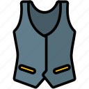clothes, clothing, fashion, vest icon