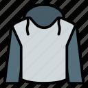 clothing, fashion, hoodie, jacket icon