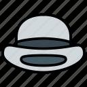 bowler, cap, fashion, hat icon