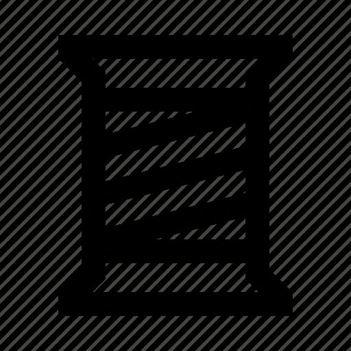 bobbin, coil, sew, string, thread icon
