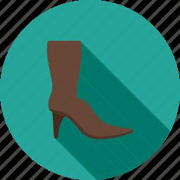 beauty, boot, boots, long, winter, zipper icon