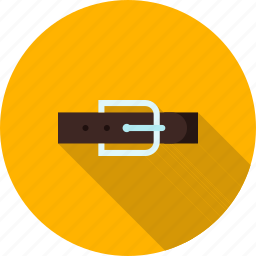 belt, brown, buckle, fashion, hole, strap icon