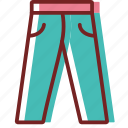 clothes, jeans, pantaloon, pants, trousers icon