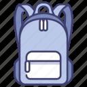 back, backpack, bag, lifestyle, school, student, travel