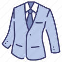 business, clothing, fashion, garment, necktie, suit, tie icon