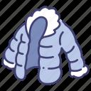 clothing, garment, hiking, jacket, puffy, wear, winter
