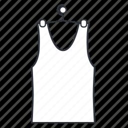 apparel, clothes, shirt, sleeveless shirt, summer, wear icon