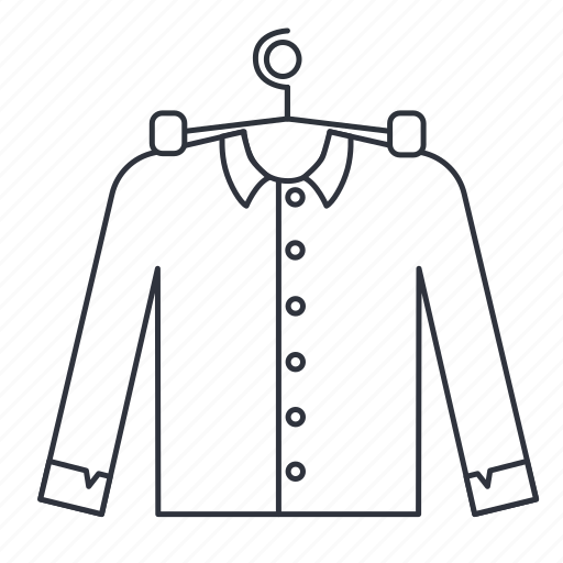 apparel, casing, clothes, jacket, office, shirt icon